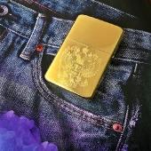 Зажигалка Zippo. Цвет золото
