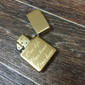 Zippo цвет золото