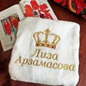 Махровый халат белый