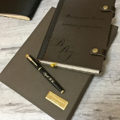Набор дизайнерский ежедневник и ручка Parker