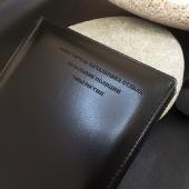 Кожаный недатированный ежедневник, серебряный срез