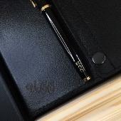 Набор дизайнерский ежедневник на кнопках + ручка Parker в подарочной коробке