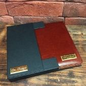 Именной кожаный ежедневник, цвет коричневый