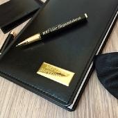 Набор ручка паркер + ежедневник , черный