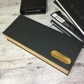 Дизайнерская коробка для набора ручка + запонки