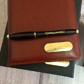 Набор кожаный коричневый ежедневник и ручка Parker Urban