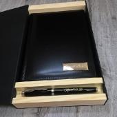 Набор кожаный ежедневник и ручка Parker