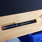 Эксклюзивный набор ручка  Parker + серебряные запонки в коробке