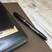 Набор ручка Parker и кожаный ежедневник