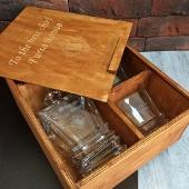 Набор штоф и 2 стакана для виски