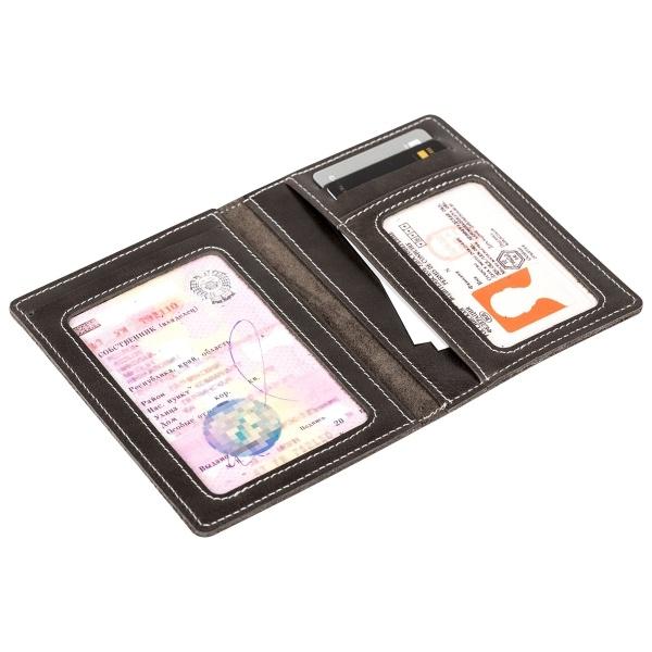 Бумажник для документов с гравировкой «Driver grey» - 3