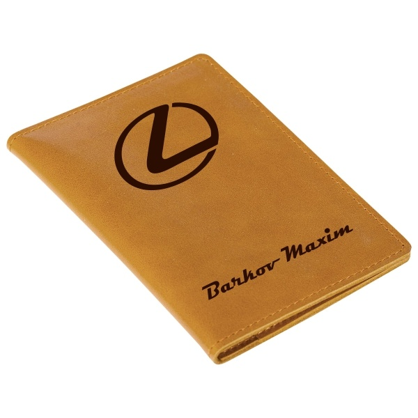 Бумажник для документов с гравировкой «Driver brown» от 2 500 руб