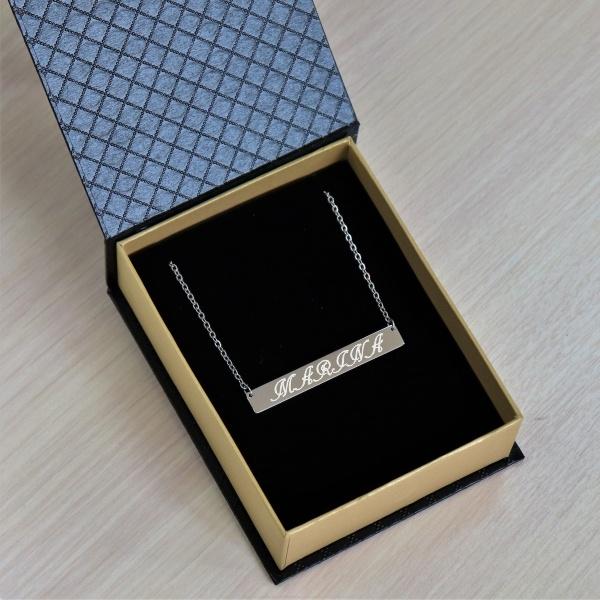 """Кулон с гравировкой """"Оливия"""", цвет серебро от 1 700 руб"""
