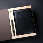 Набор ежедневник и ручка в подарочной коробке с гравировкой Galant, цвет черный