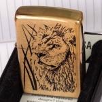 Зажигалка ZIPPO Proud Lion, с покрытием Brushed Brass