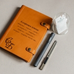 Дизайнерский кожаный ежедневник с гравировкой Caramel