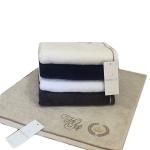 Банное махровое полотенце PIERRE с именной вышивкой 85 на 150 см