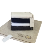 Банное махровое полотенце PIERRE с именной вышивкой 50 на 100 см