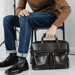Кожаная сумка с персональной гравировкой Кенвуд, цвет коричневый