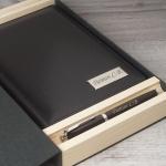 Набор кожаный ежедневник и ручка Parker в подарочной коробке с гравировкой Тауэр