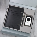 Подарочный набор бизнес аксессуаров и аккумулятора с гравировкой Корсо