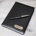 Набор ежедневник с гравировкой и ручка Parker
