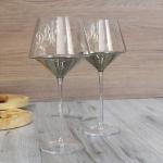 Пара бокалов для вина с гравировкой Ice Wine Platinum