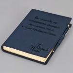 Ежедневник-портфолио с персональной гравировкой Nota