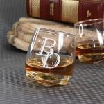 Стакан для виски с гравировкой Торнадо
