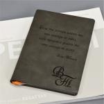 Ежедневник в мягкой обложке с гравировкой Modus grey