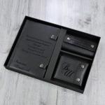Премиальный набор из 3 предметов с персональным нанесением Арбат, цвет черный