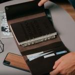 Кожаный органайзер на кольцах А5 Memo Umbra с гравировкой