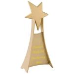 Стела с гравировкой Счастливая звезда, цвет золото
