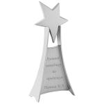 Стела с гравировкой Счастливая звезда, цвет серебро