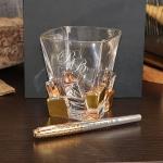 Подарочный набор стакан для виски и ручка Parker Палисандр