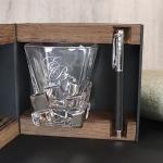 Подарочный набор стакан для виски и ручка Parker Лайсвуд