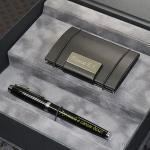 Набор в подарочной коробке визитница и ручка Parker c гравировкой Аспект