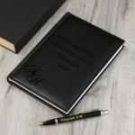 Набор кожаный ежедневник и ручка Parker с гравировкой Ревизор