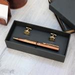 Подарочный набор ручка Pierre Cardin и запонки с гравировкой Verde