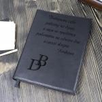 Кожаный ежедневник А4 Grand Black со съемной обложкой, цвет черный, золоченый срез