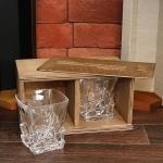 Набор из двух стаканов для виски в подарочном пенале Кубики льда