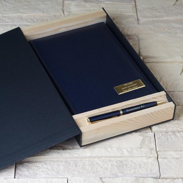 """Набор ежедневник+ручка с гравировкой в подарочной коробке """"Eclipse"""" от 3 500 руб"""