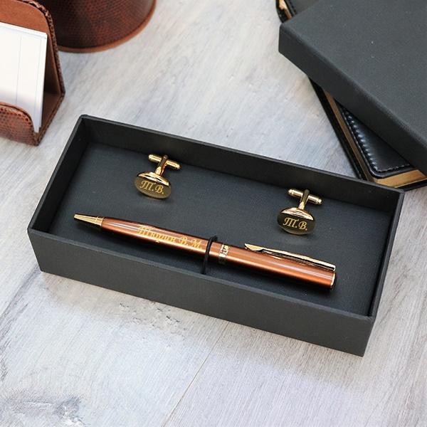 """Подарочный набор ручка Pierre Cardin и запонки с гравировкой """"Verde"""" от 2 900 руб"""