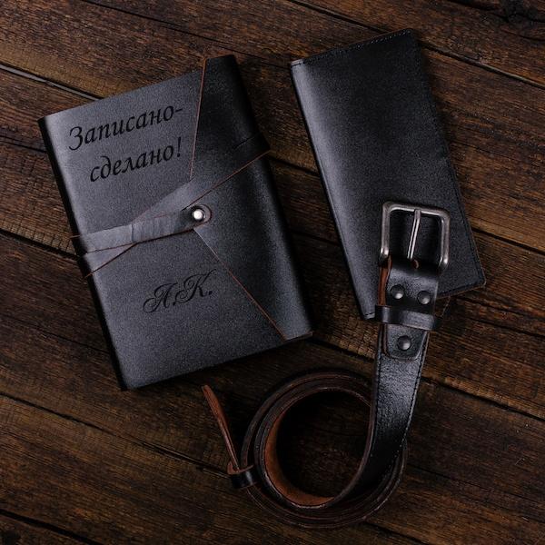 """Кожаный блокнот А6 с гравировкой """"Legenda"""" от 3 990 руб"""